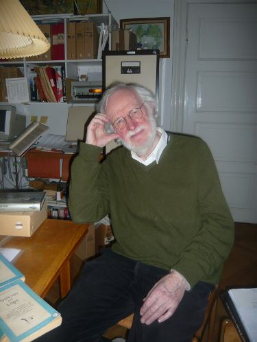 Peter Naur, at his home in Gentofte on April 5th, 2011 (C) 2011 E.G.Daylight